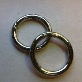 Mousquetons ronds 35mm nick (2 pièces)