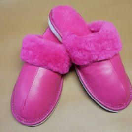 chausson en cuir «céline»