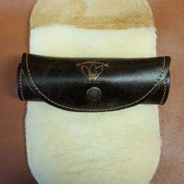 Gants lustreurs cuir et laine véritable