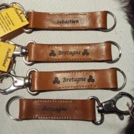 Porte-clés plat avec personnalisation