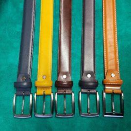 ceintures en cuir bombée